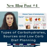 Types of Carbohydrates, Sources and Low Carb Diet Planning